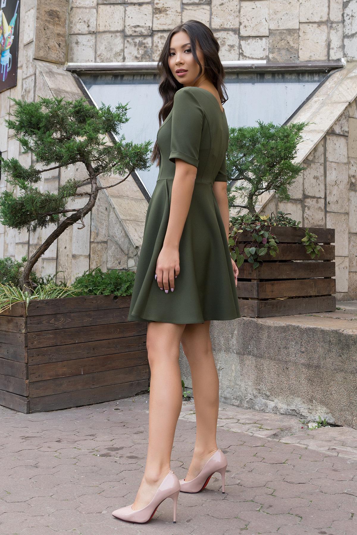 Стильное платья на пуговицах Фернанда 7848 АРТ. 43901 Цвет: Хаки - фото 3, интернет магазин tm-modus.ru