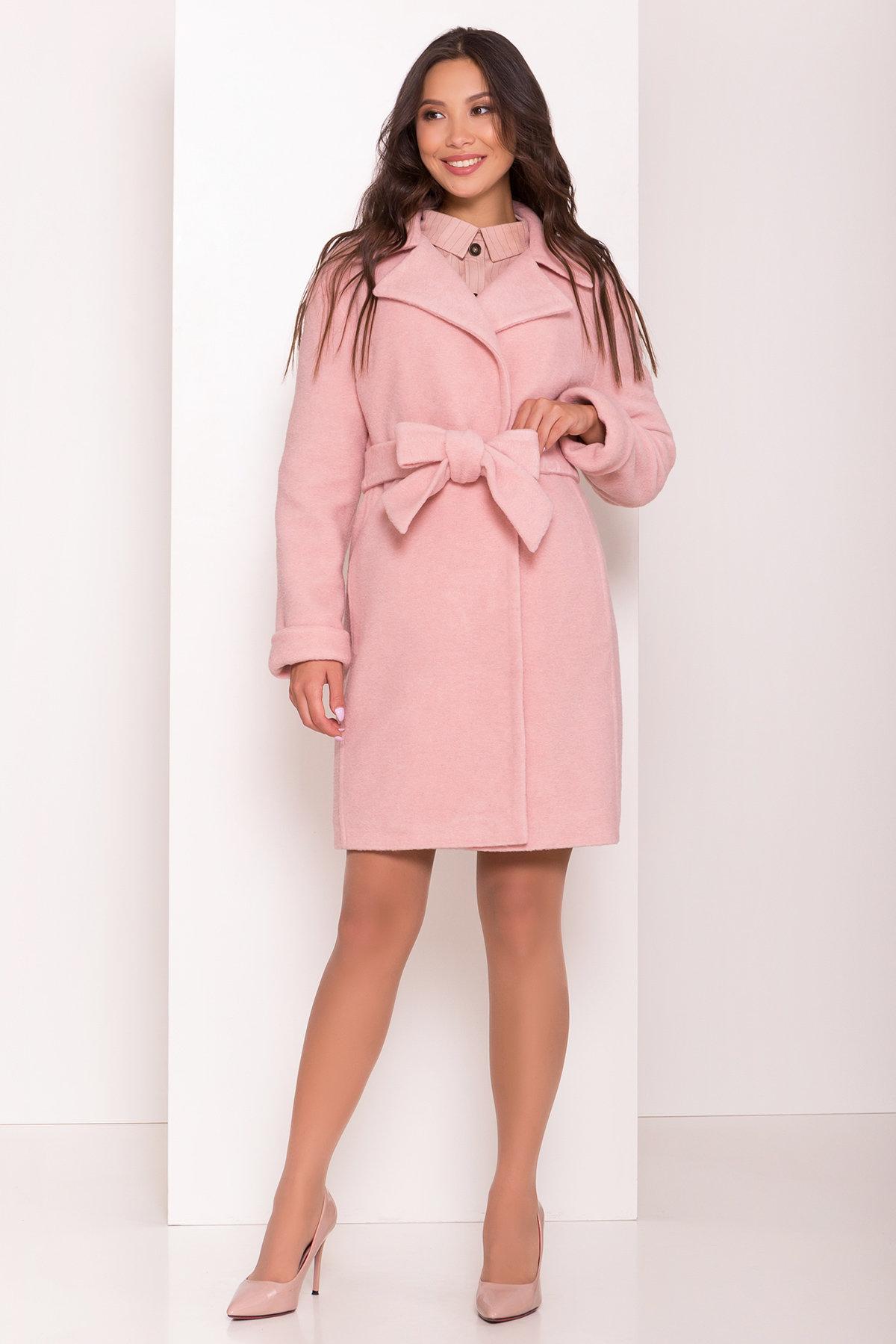 Пальто цвета нежно-розовая пудра Приора 6046 Цвет: Пудра