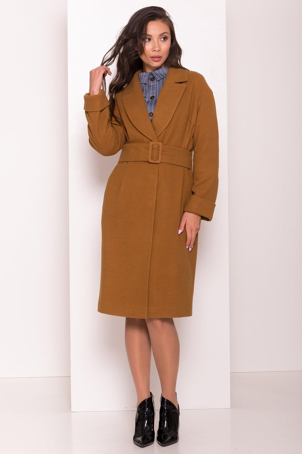 Демисезонное пальто Севен 8052 Цвет: Кемел