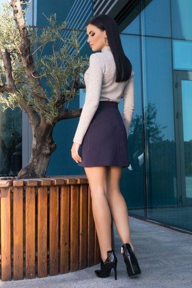 Трапециевидная юбка мини длины Ньюарк 7705 Цвет: т. синий