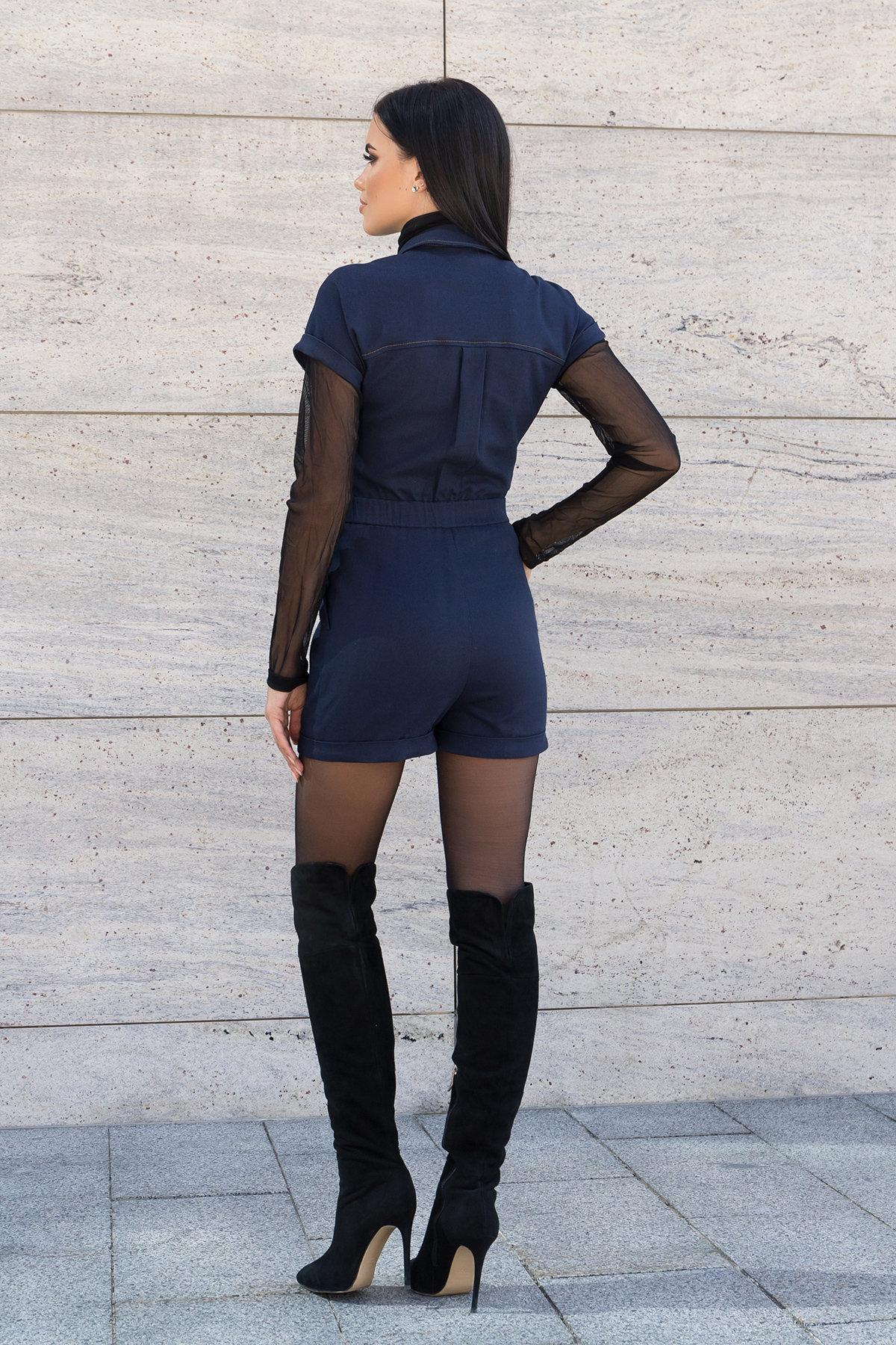 Ромпер из джинса Кемел 7855 АРТ. 43754 Цвет: т.джинс - фото 3, интернет магазин tm-modus.ru