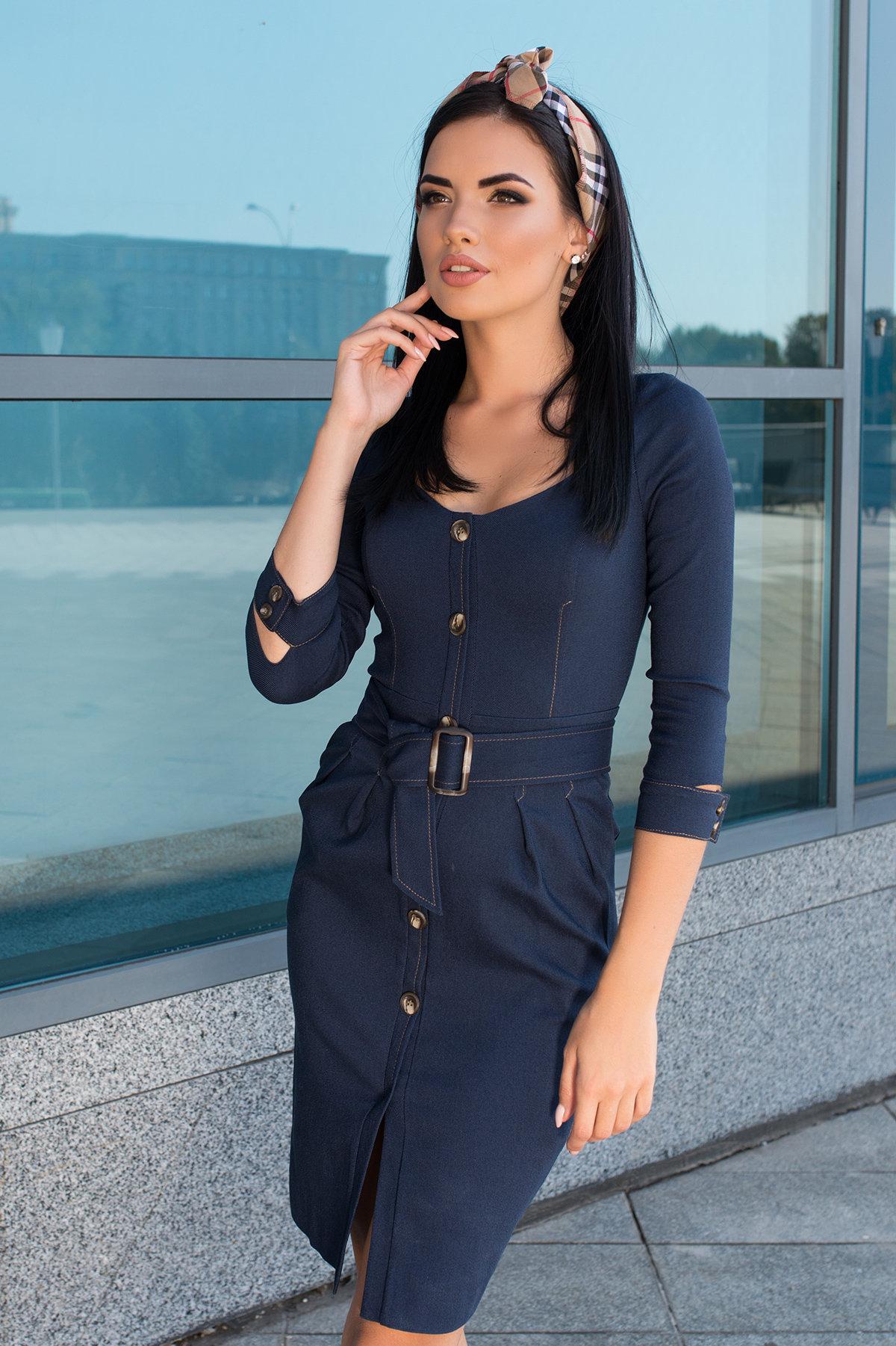 Платье-футляр Марсель 7656 АРТ. 43746 Цвет: Т.джинс - фото 4, интернет магазин tm-modus.ru