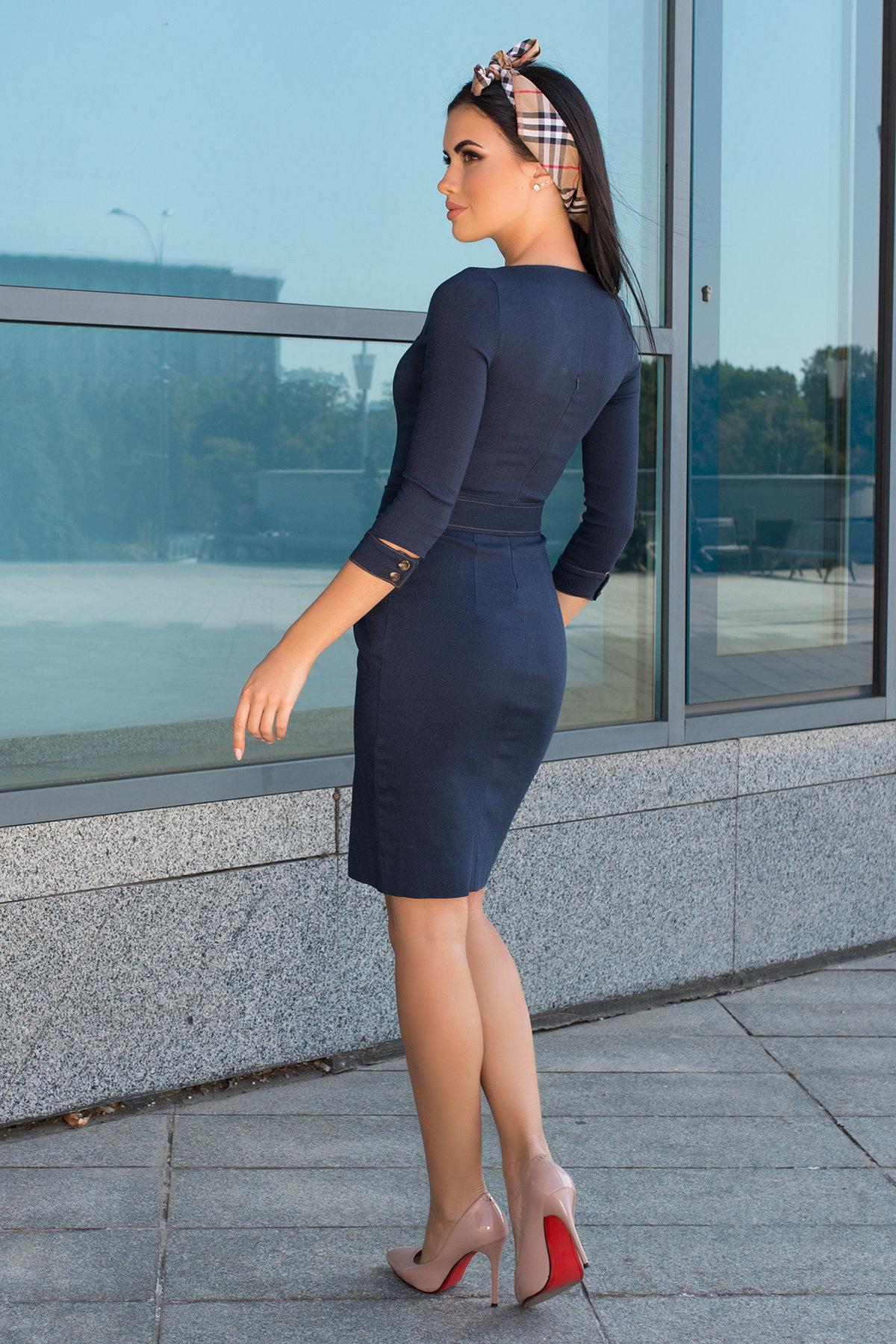 Платье-футляр Марсель 7656 АРТ. 43746 Цвет: Т.джинс - фото 6, интернет магазин tm-modus.ru