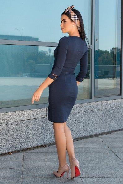 Платье-футляр Марсель 7656 Цвет: Т.джинс