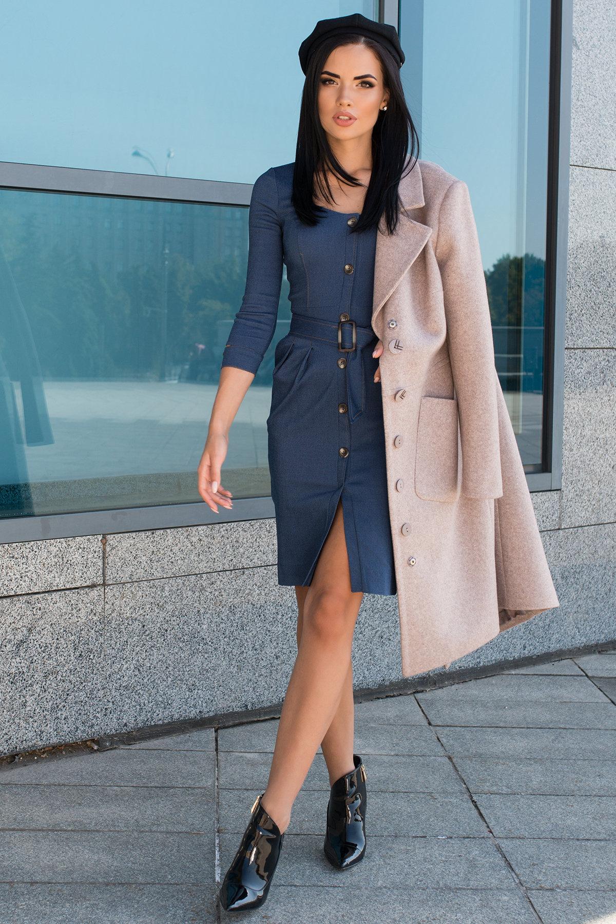 Платье-футляр Марсель 7656 АРТ. 43745 Цвет: Джинс - фото 3, интернет магазин tm-modus.ru