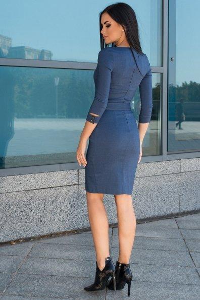 Платье-футляр Марсель 7656 Цвет: Джинс