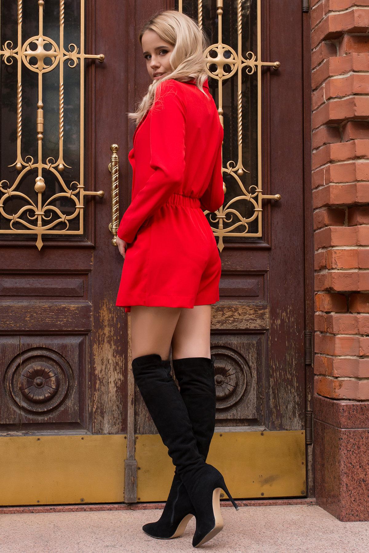 Оригинальный комбинезон Ламбр 8007 АРТ. 44003 Цвет: Красный - фото 3, интернет магазин tm-modus.ru
