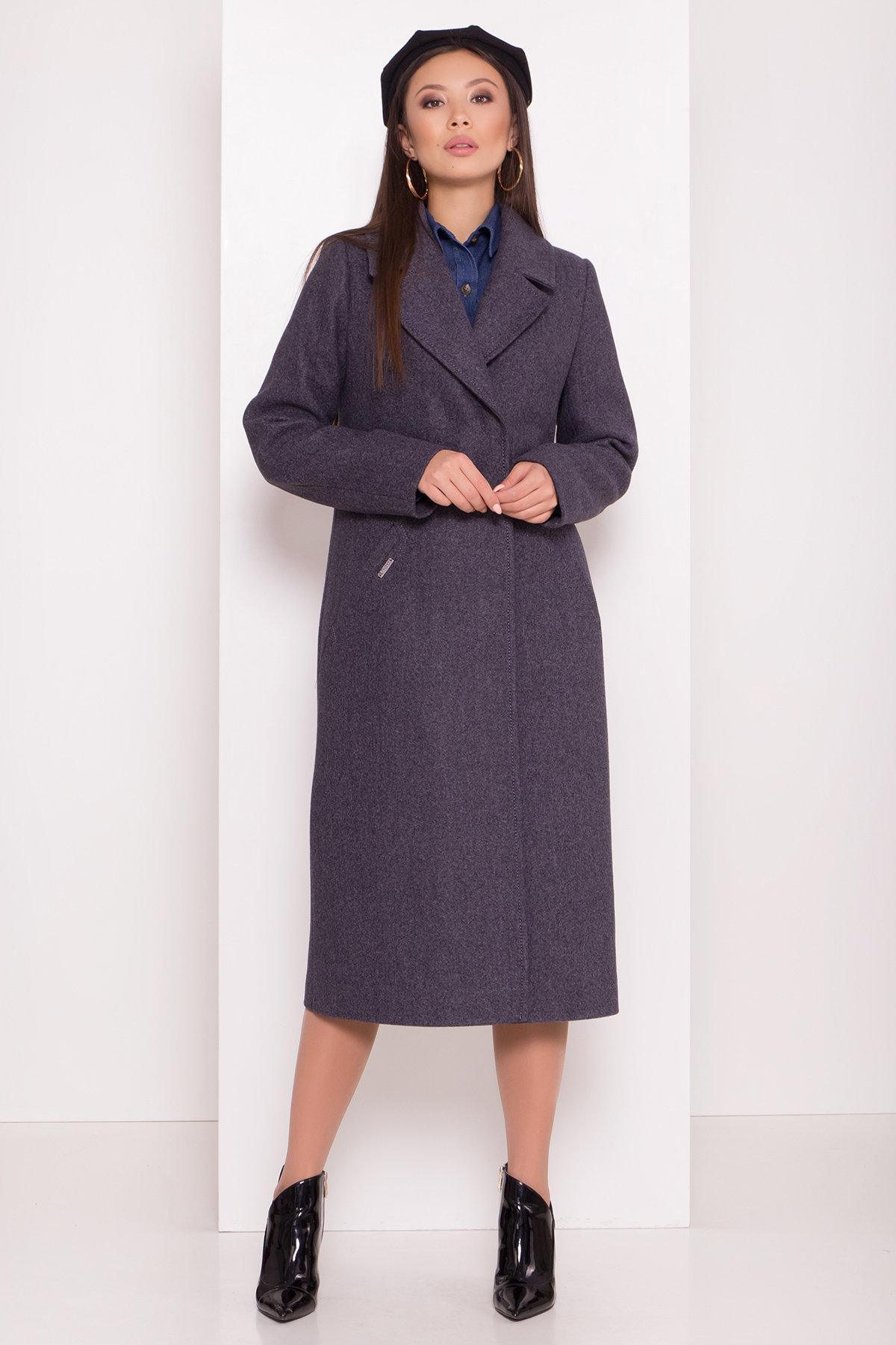 Пальто с английским воротником Миссури макси 8107 АРТ. 44054 Цвет: Т.синий 543 - фото 2, интернет магазин tm-modus.ru