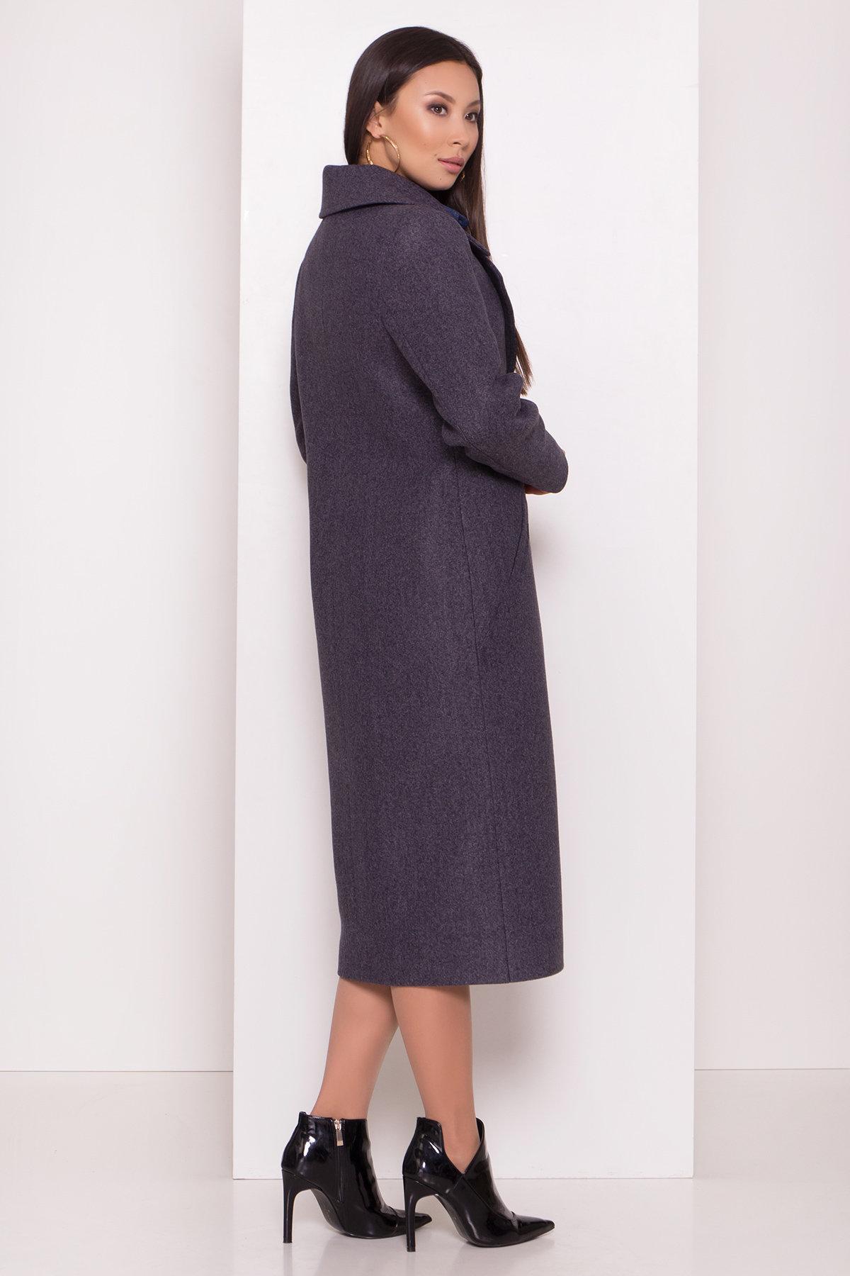 Пальто с английским воротником Миссури макси 8107 АРТ. 44054 Цвет: Т.синий 543 - фото 3, интернет магазин tm-modus.ru