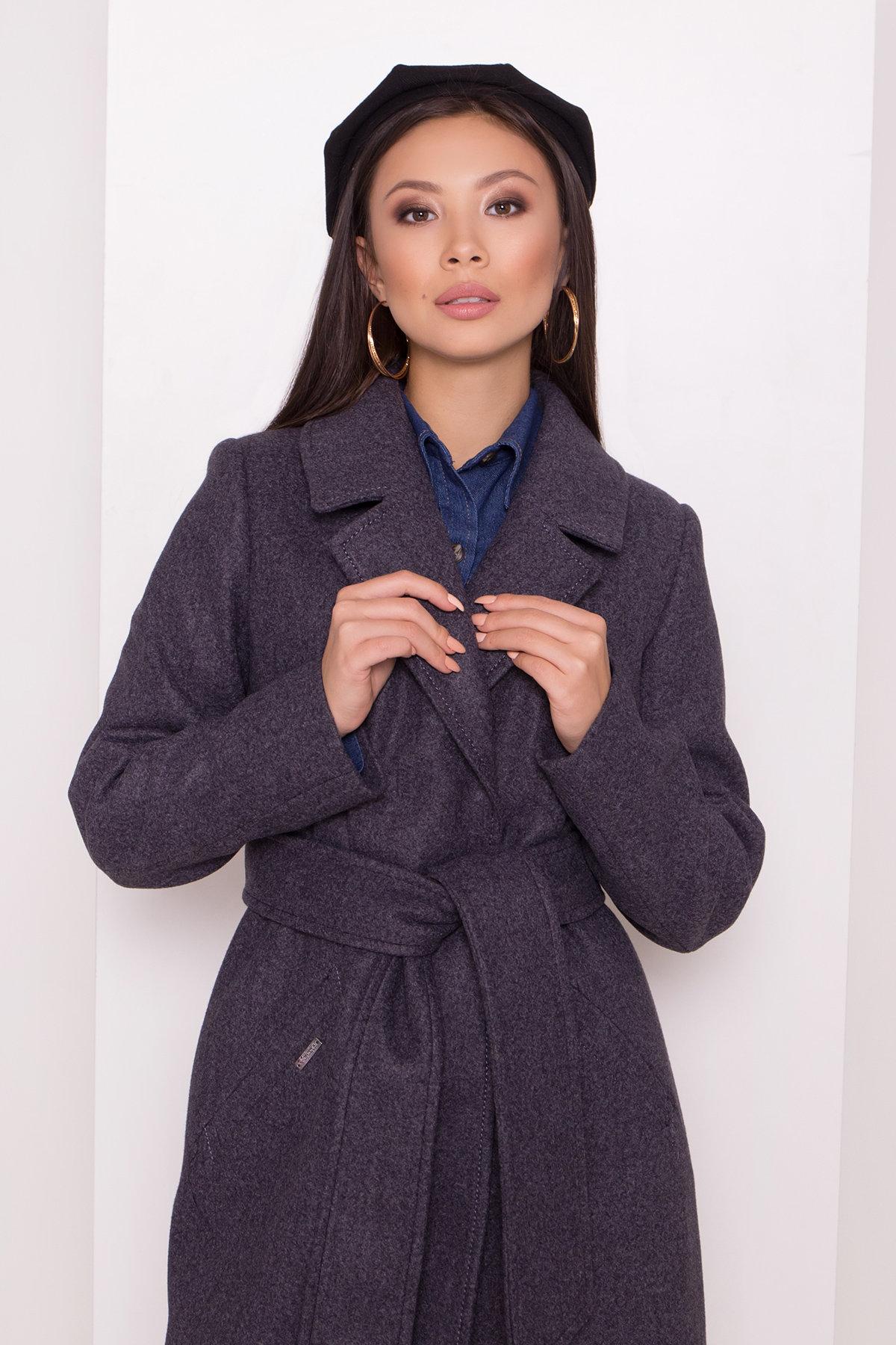 Пальто с английским воротником Миссури макси 8107 АРТ. 44054 Цвет: Т.синий 543 - фото 5, интернет магазин tm-modus.ru
