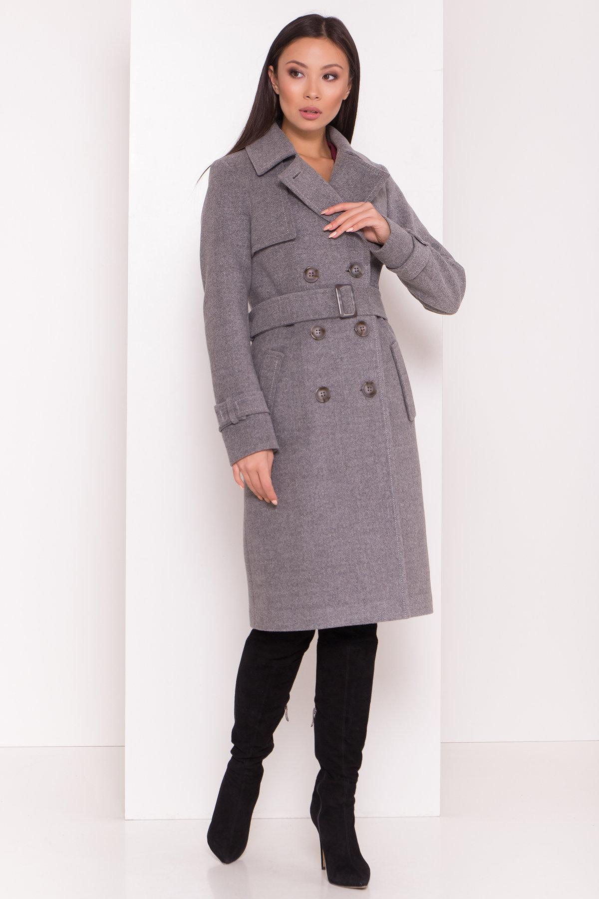 Купить оптом зимнее пальто от Modus Элегантное пальто со съемным поясом Монте 8087