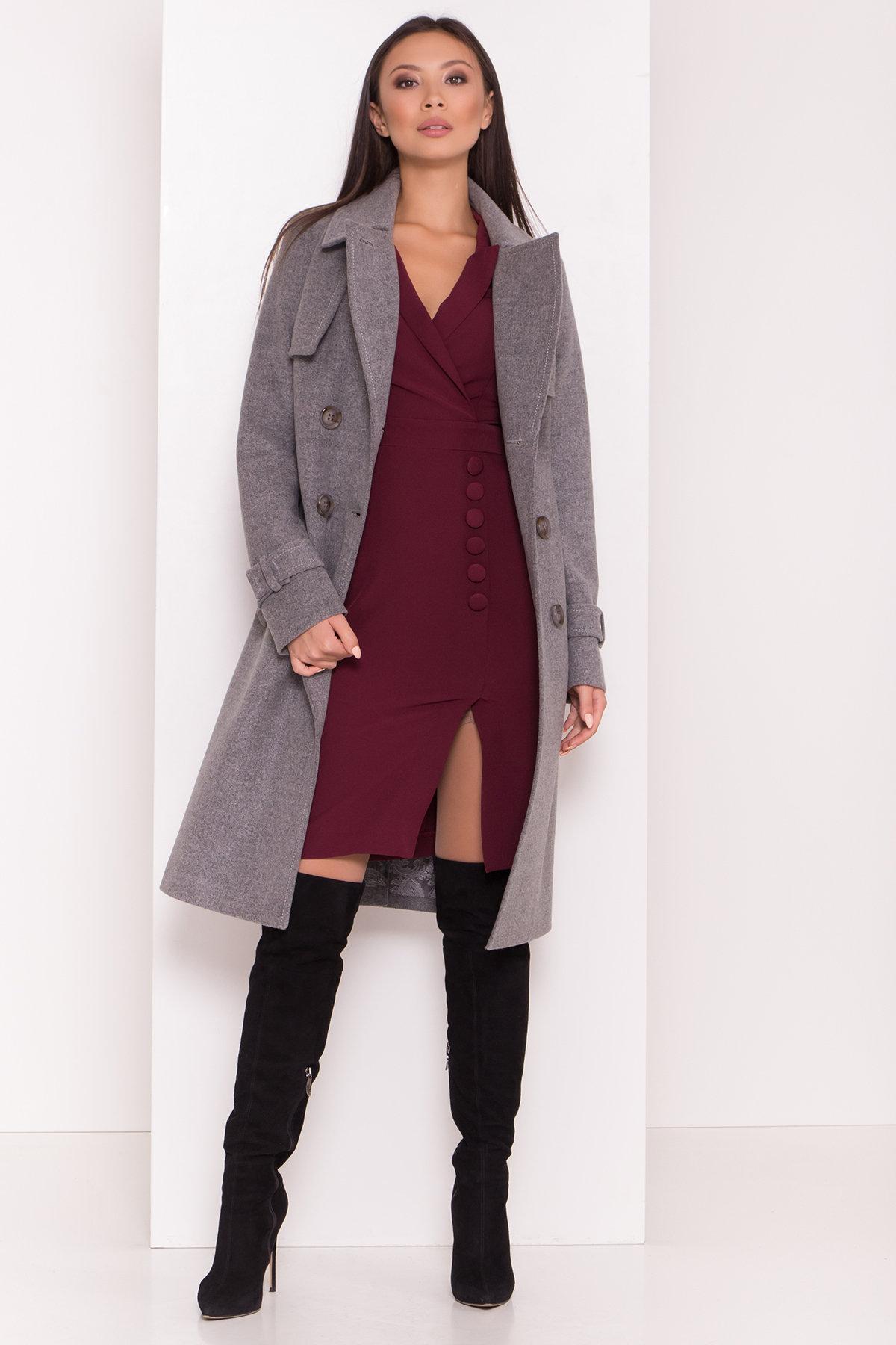 Элегантное пальто со съемным поясом Монте 8087 АРТ. 44029 Цвет: Серый 18 - фото 2, интернет магазин tm-modus.ru