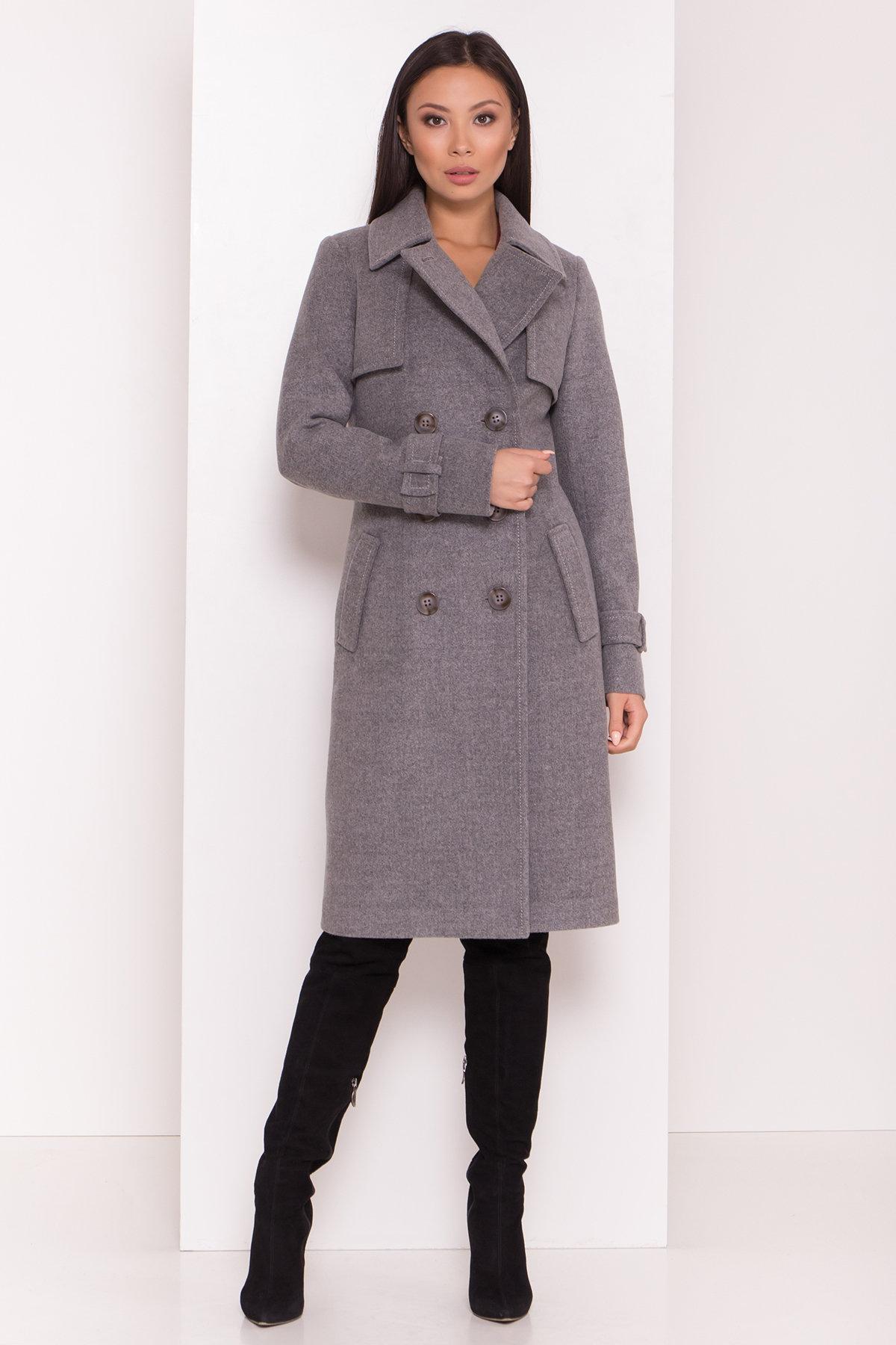 Элегантное пальто со съемным поясом Монте 8087 АРТ. 44029 Цвет: Серый 18 - фото 3, интернет магазин tm-modus.ru