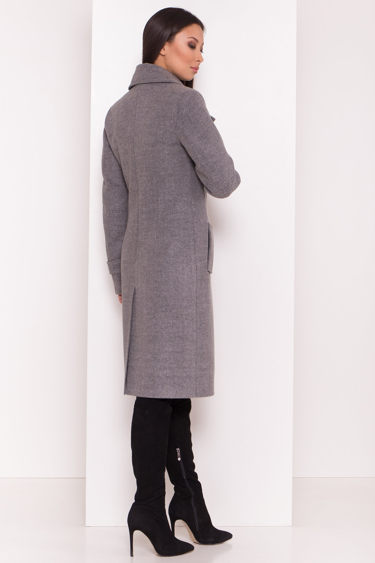 Элегантное пальто со съемным поясом Монте 8087 АРТ. 44029 Цвет: Серый 18 - фото 4, интернет магазин tm-modus.ru