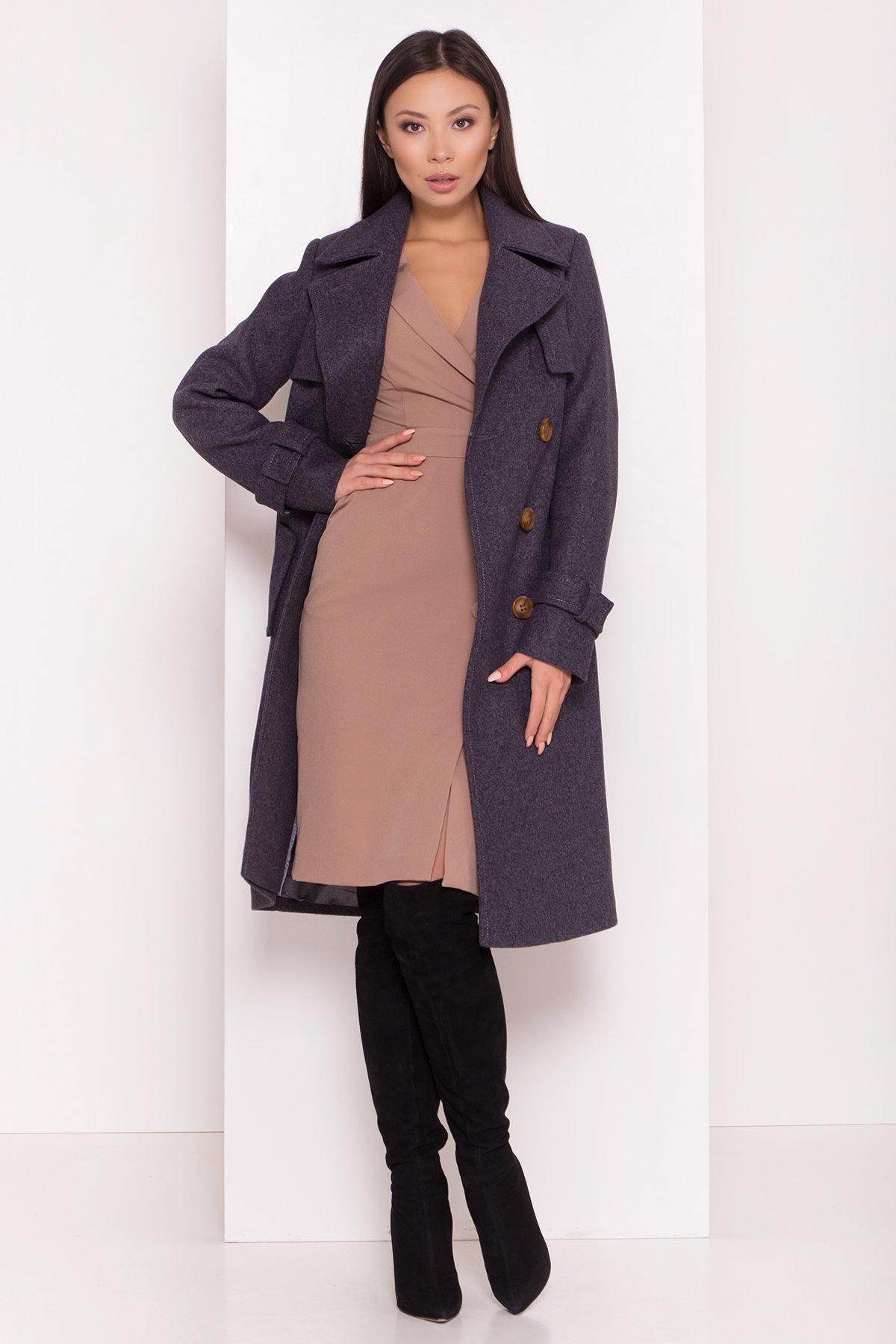 Двубортное пальто демисезон Монте 8089 АРТ. 44032 Цвет: т. синий 543 - фото 1, интернет магазин tm-modus.ru