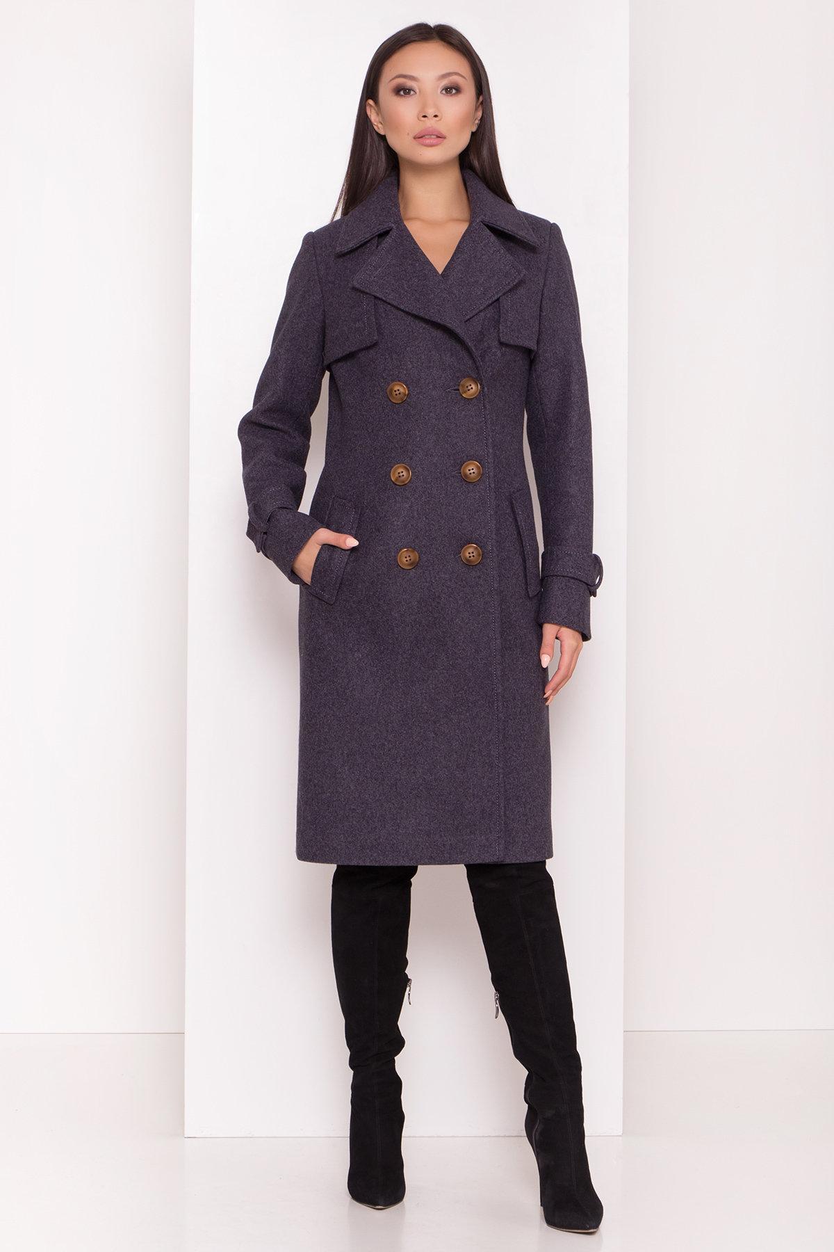 Двубортное пальто демисезон Монте 8089 АРТ. 44032 Цвет: т. синий 543 - фото 4, интернет магазин tm-modus.ru