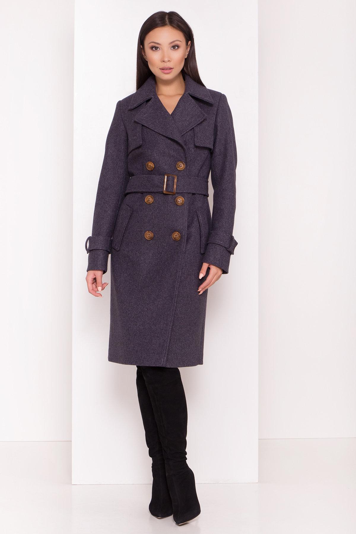 Двубортное пальто демисезон Монте 8089 АРТ. 44032 Цвет: т. синий 543 - фото 8, интернет магазин tm-modus.ru