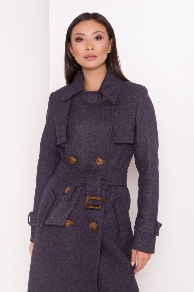 Двубортное пальто демисезон Монте 8089 Цвет: т. синий 543