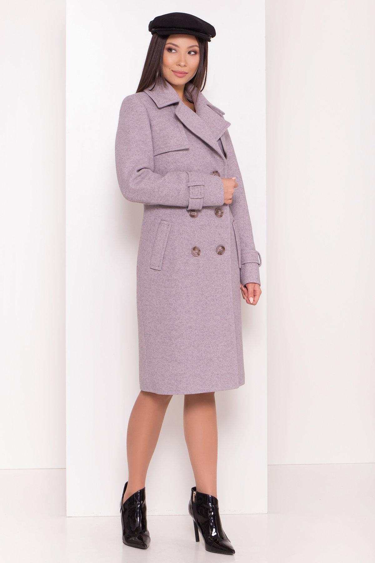 Двубортное пальто демисезон Монте 8089 АРТ. 44031 Цвет: Серый-розовый - фото 4, интернет магазин tm-modus.ru