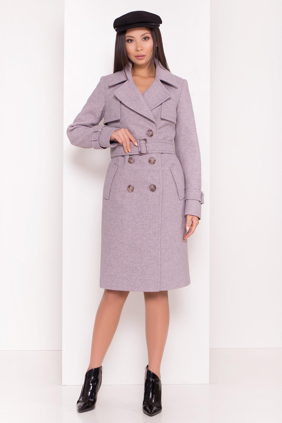 Двубортное пальто демисезон Монте 8089 АРТ. 44031 Цвет: Серый-розовый - фото 8, интернет магазин tm-modus.ru