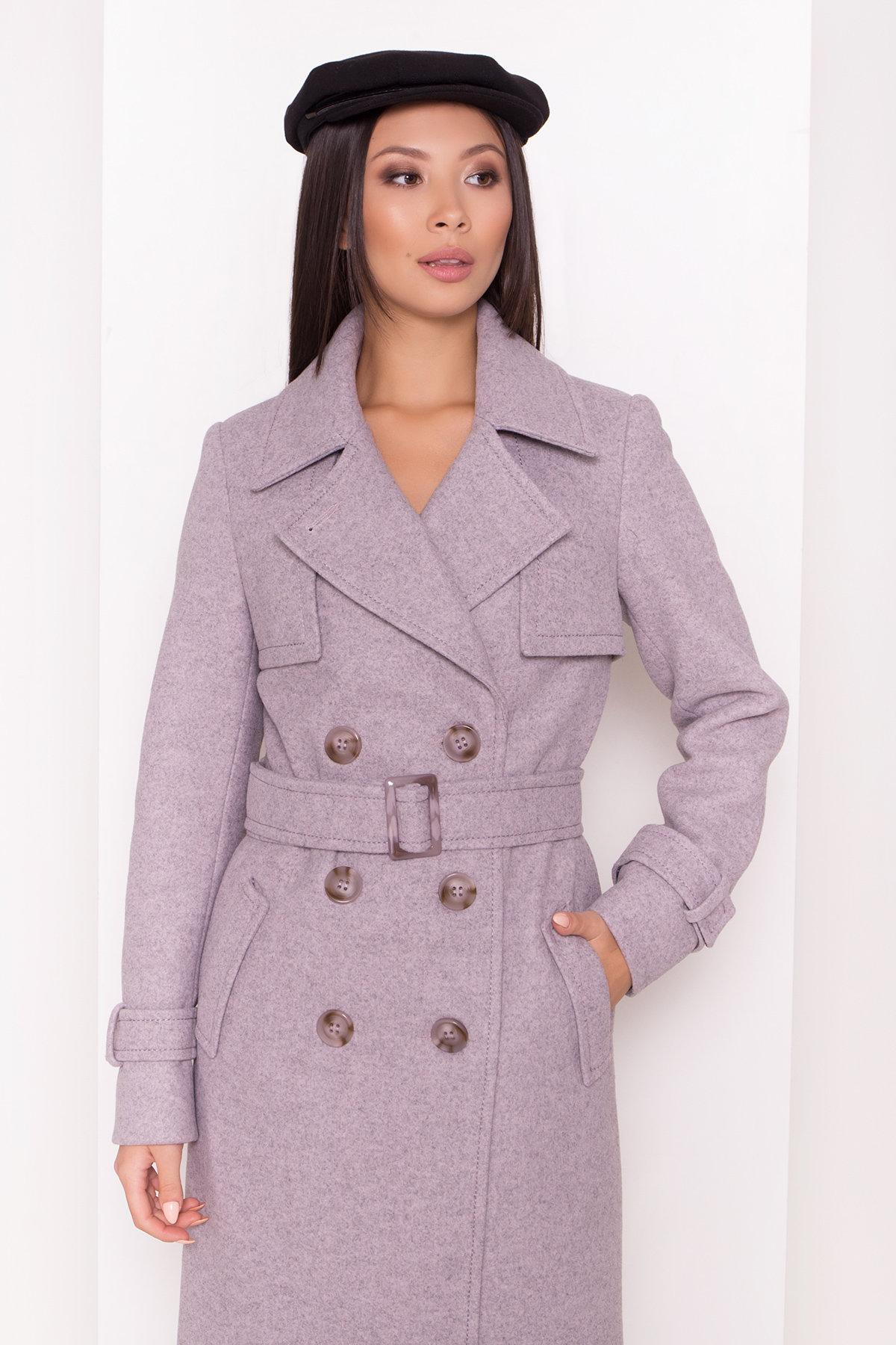 Двубортное пальто демисезон Монте 8089 АРТ. 44031 Цвет: Серый-розовый - фото 10, интернет магазин tm-modus.ru