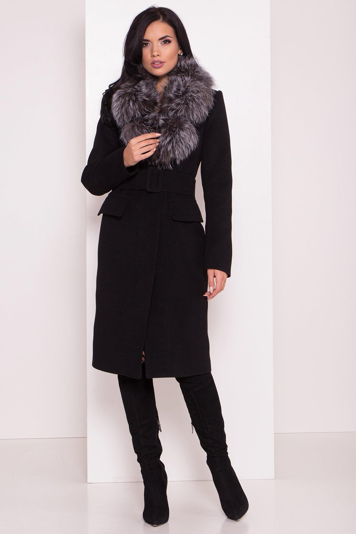 Зимнее пальто интернет магазин Зимнее пальто с меховым воротником Лабио 8150