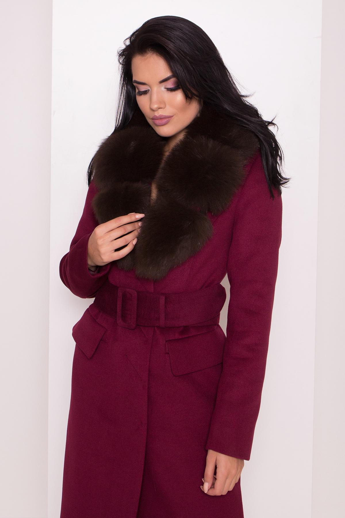 Кашемировое зимнее пальто Лабио 8154 АРТ. 44108 Цвет: Марсала 2 - фото 5, интернет магазин tm-modus.ru