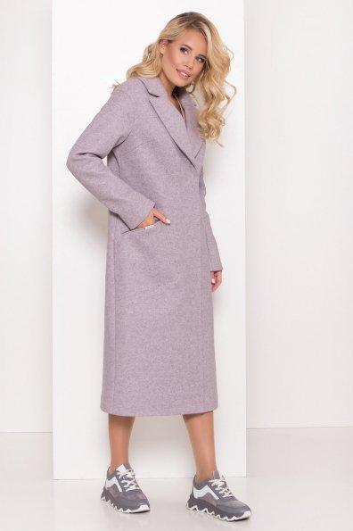 Пальто Ждана лайт макси 8190 Цвет: Серо-розовый 46