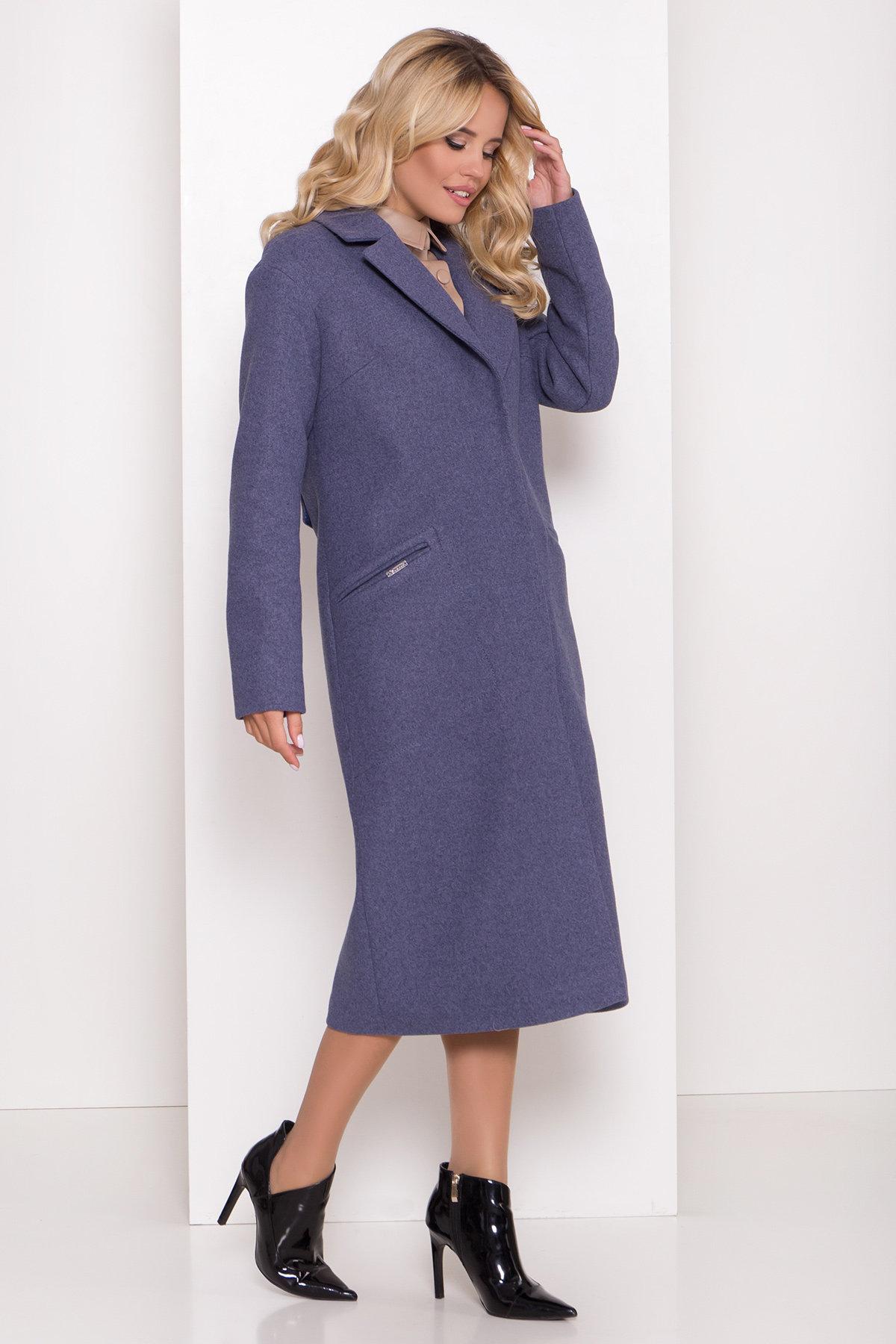 Пальто Ждана лайт макси 8190 Цвет: Джинс
