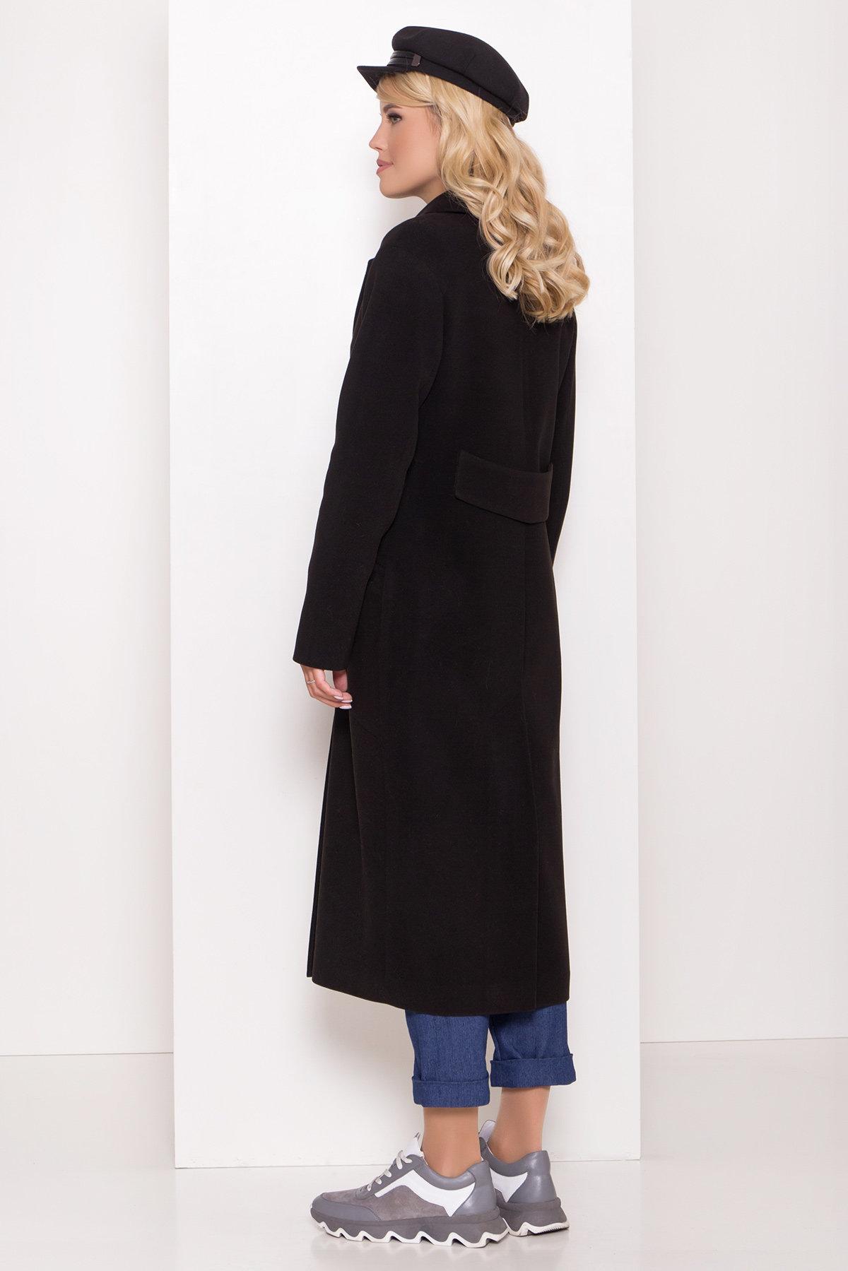 Длинное демисезонное пальто Ждана лайт 8111 АРТ. 44060 Цвет: чёрный - фото 3, интернет магазин tm-modus.ru