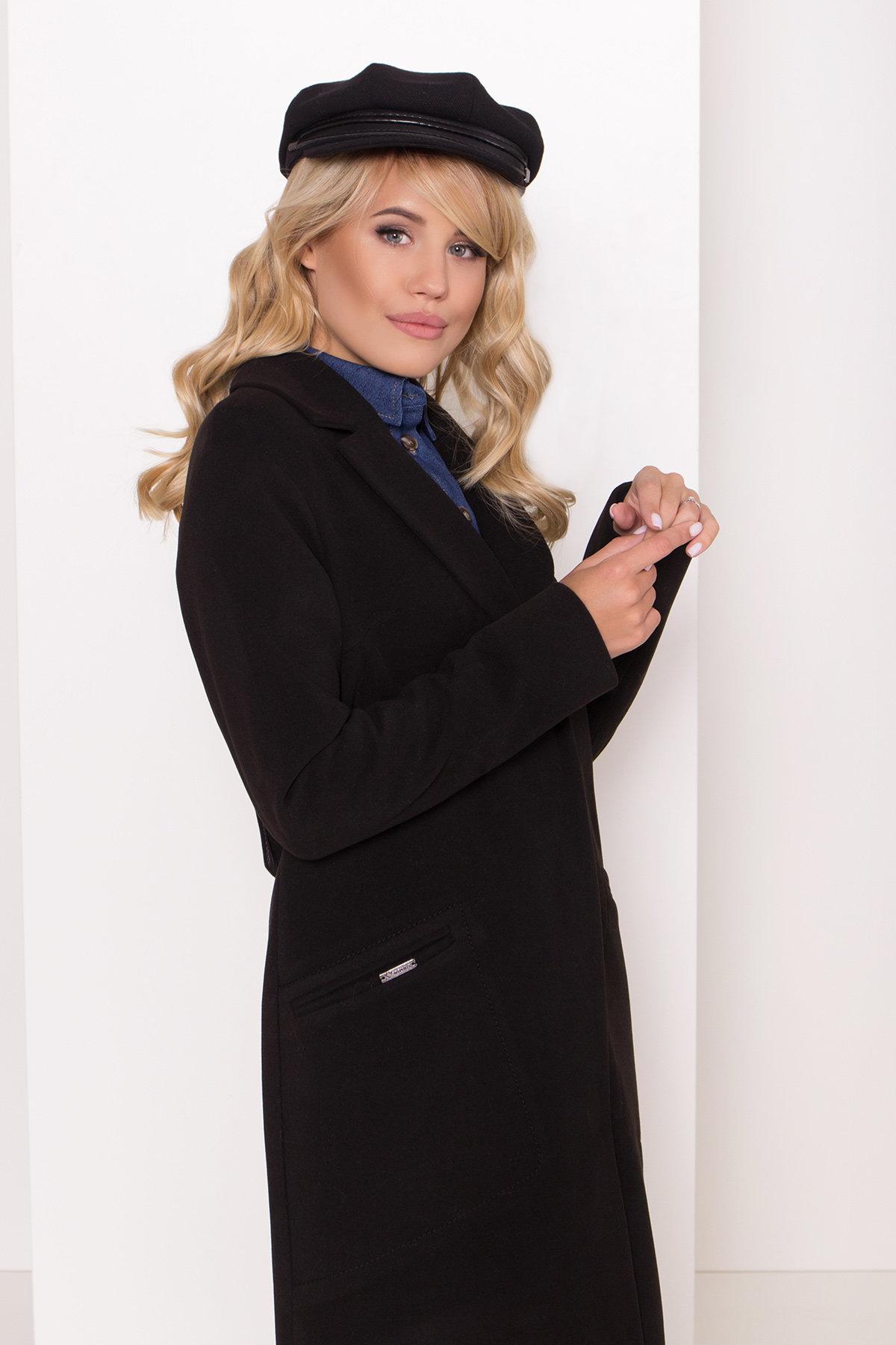 Длинное демисезонное пальто Ждана лайт 8111 АРТ. 44060 Цвет: чёрный - фото 4, интернет магазин tm-modus.ru
