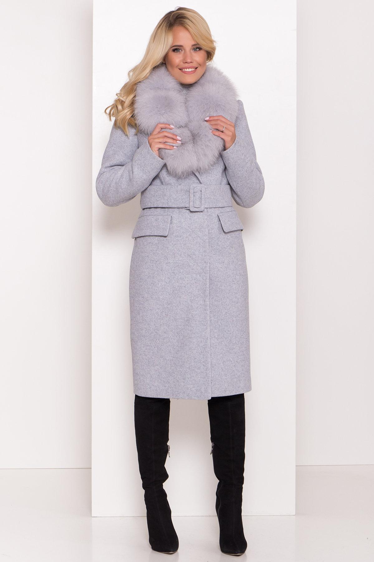 Зимнее пальто оптом от Modus Пальто зима с меховым воротником Лабио 8149
