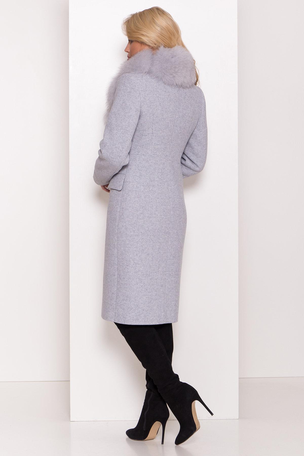 Пальто зима с меховым воротником Лабио 8149 АРТ. 44105 Цвет: Серый Светлый 33 - фото 4, интернет магазин tm-modus.ru