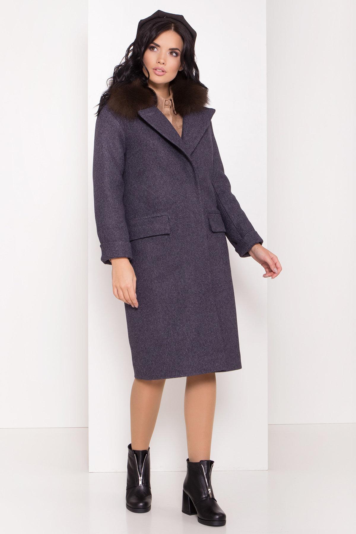 Зимнее пальто с меховым воротником Моле 8185 АРТ. 44191 Цвет: Т.синий 543 - фото 2, интернет магазин tm-modus.ru