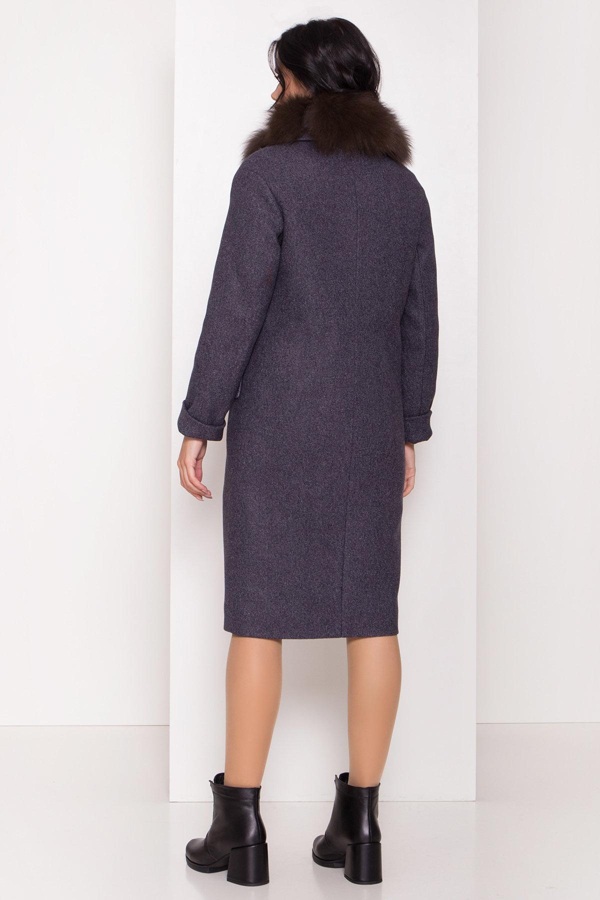 Зимнее пальто с меховым воротником Моле 8185 АРТ. 44191 Цвет: Т.синий 543 - фото 3, интернет магазин tm-modus.ru