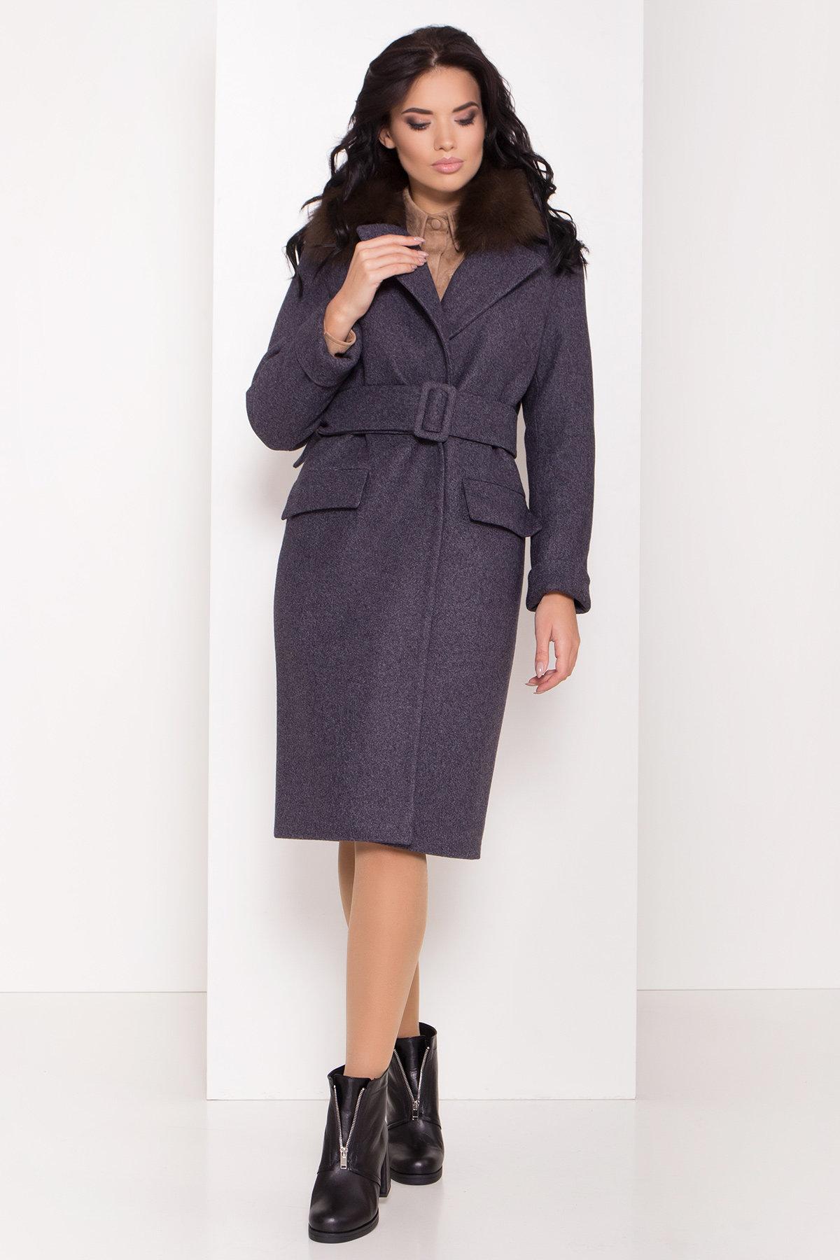 Зимнее пальто для женщин от Modus Зимнее пальто с меховым воротником Моле 8185