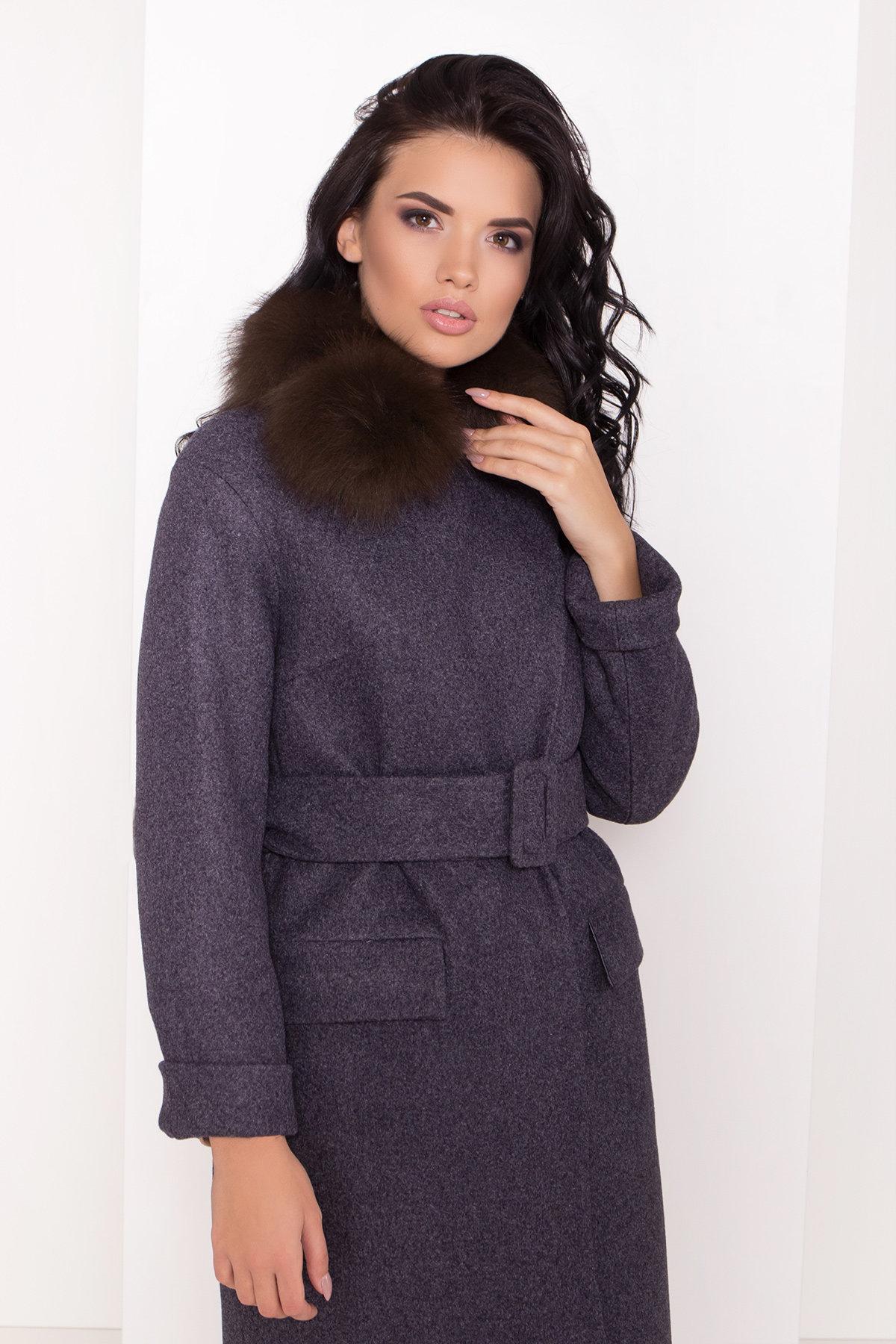 Зимнее пальто с меховым воротником Моле 8185 АРТ. 44191 Цвет: Т.синий 543 - фото 5, интернет магазин tm-modus.ru