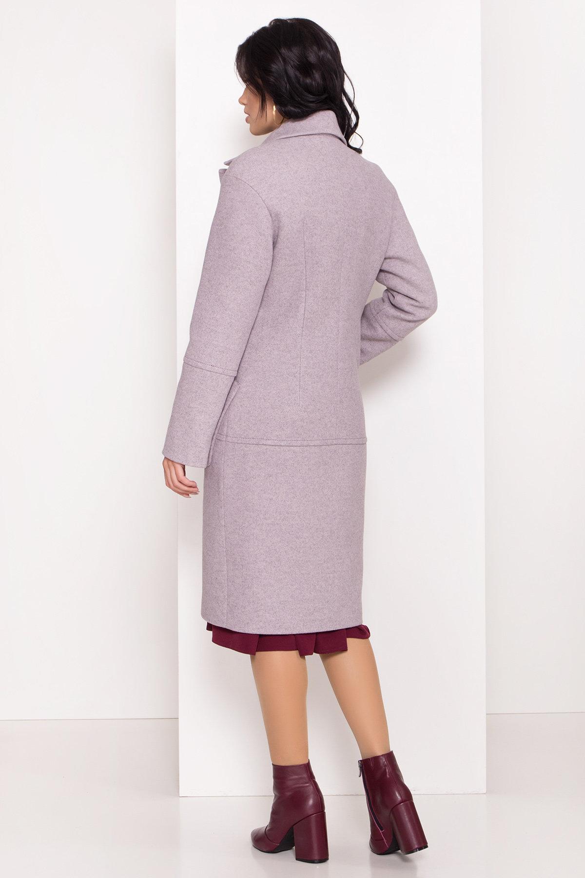 Элегантное зимнее пальто миди длины с накладными карманами Флорида 8138 АРТ. 44094 Цвет: Серо-розовый 46 - фото 4, интернет магазин tm-modus.ru
