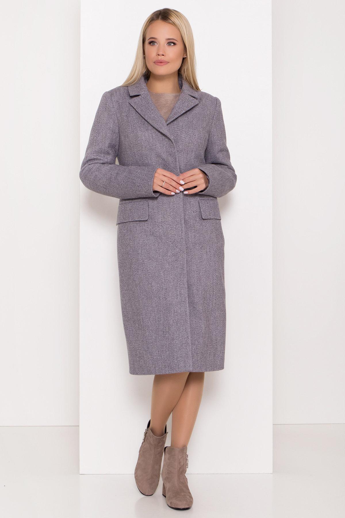 Полуприталенное зимнее пальто с отложным воротником Лабио 8182 АРТ. 44189 Цвет: Серый 2 - фото 4, интернет магазин tm-modus.ru