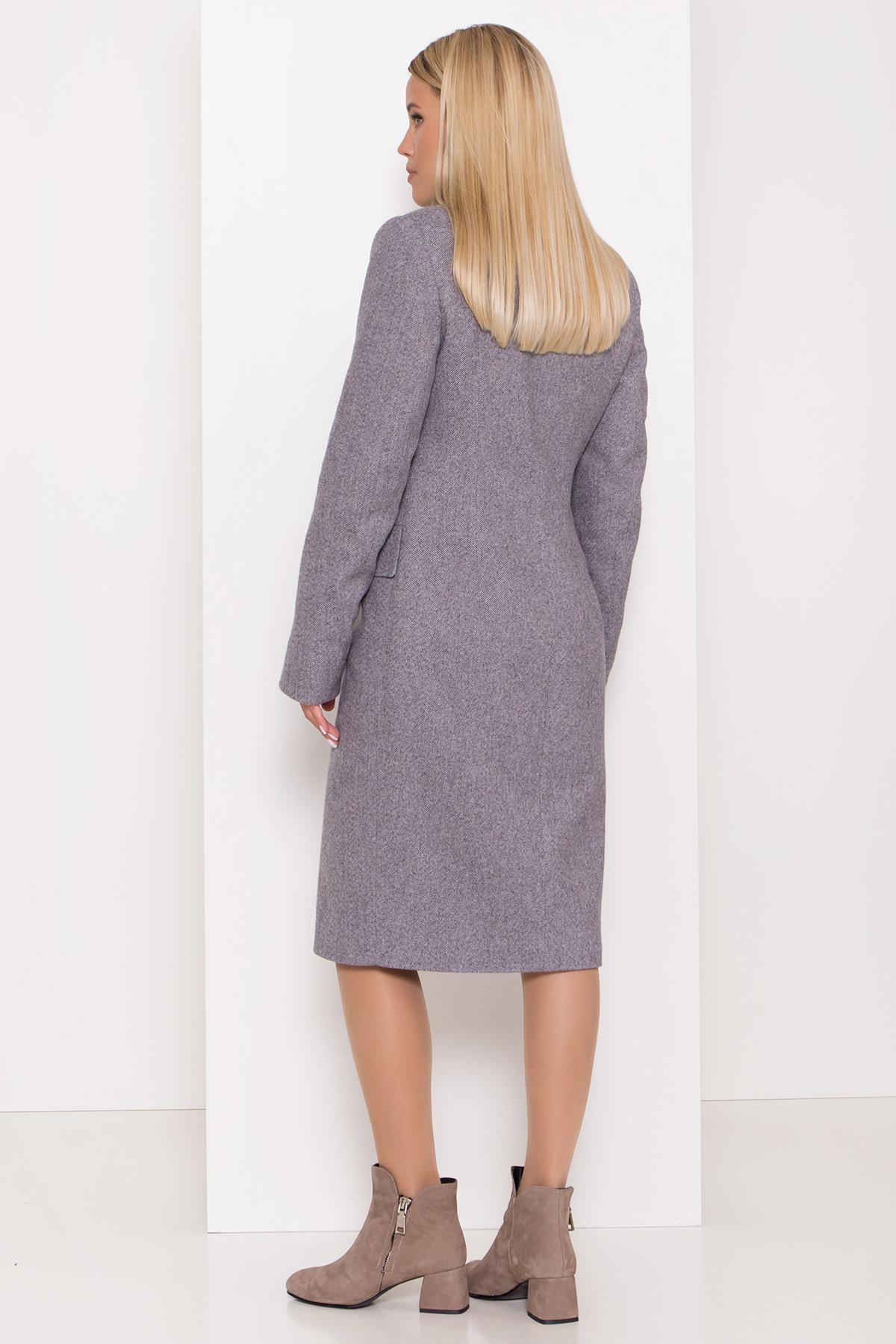 Полуприталенное зимнее пальто с отложным воротником Лабио 8182 АРТ. 44189 Цвет: Серый 2 - фото 6, интернет магазин tm-modus.ru