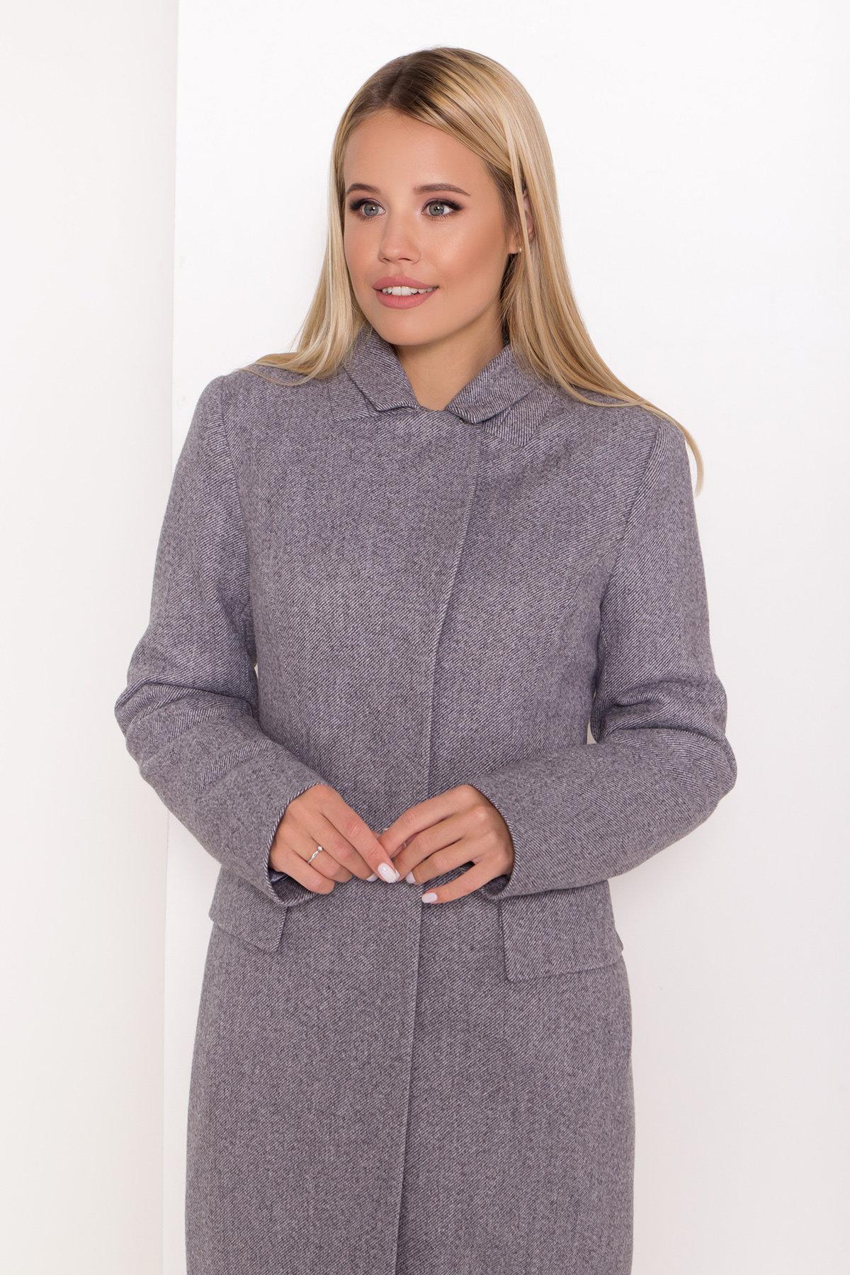 Полуприталенное зимнее пальто с отложным воротником Лабио 8182 АРТ. 44189 Цвет: Серый 2 - фото 10, интернет магазин tm-modus.ru