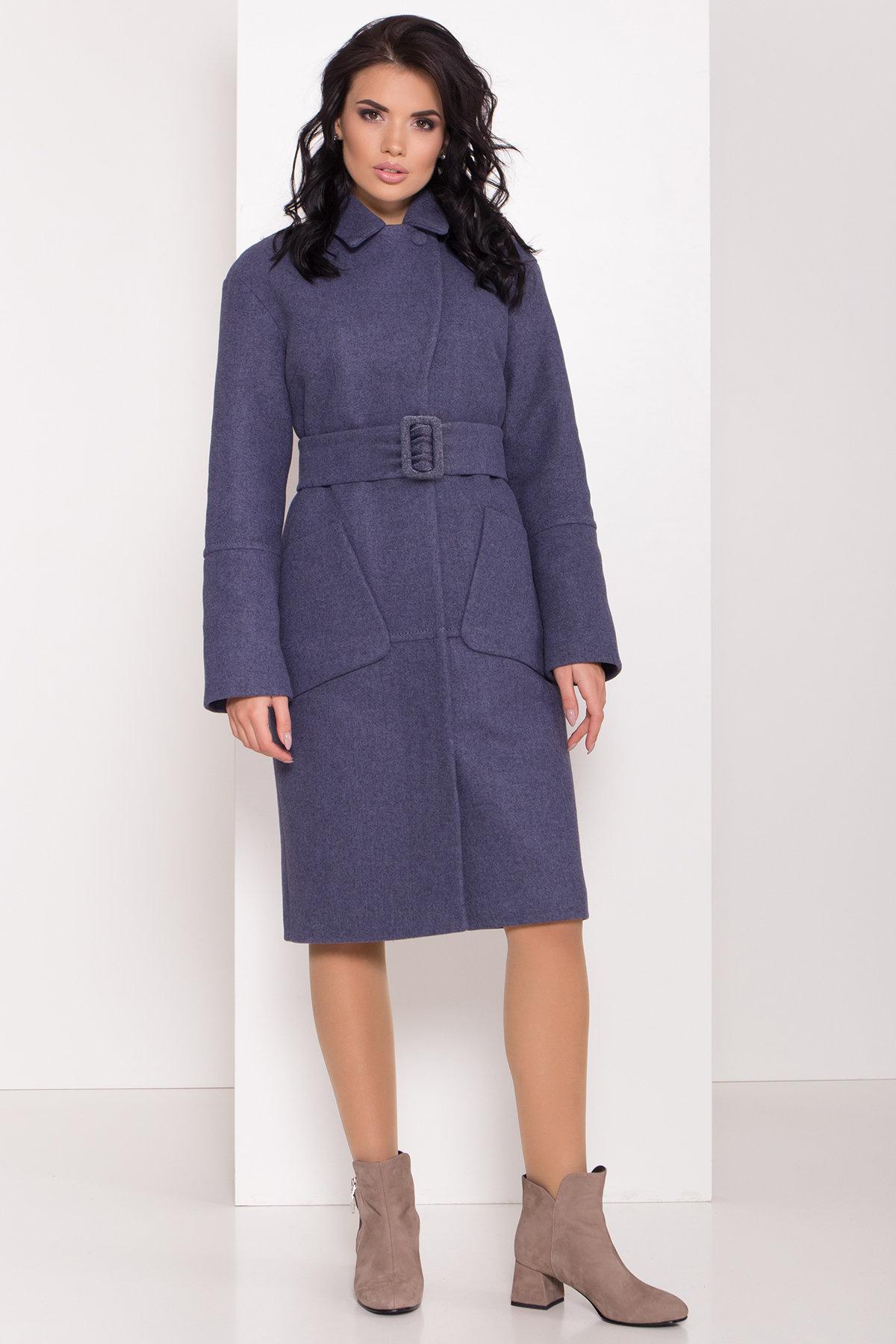 Купить женское зимнее пальто в Украине Modus Элегантное зимнее пальто миди длины с накладными карманами Флорида 8138