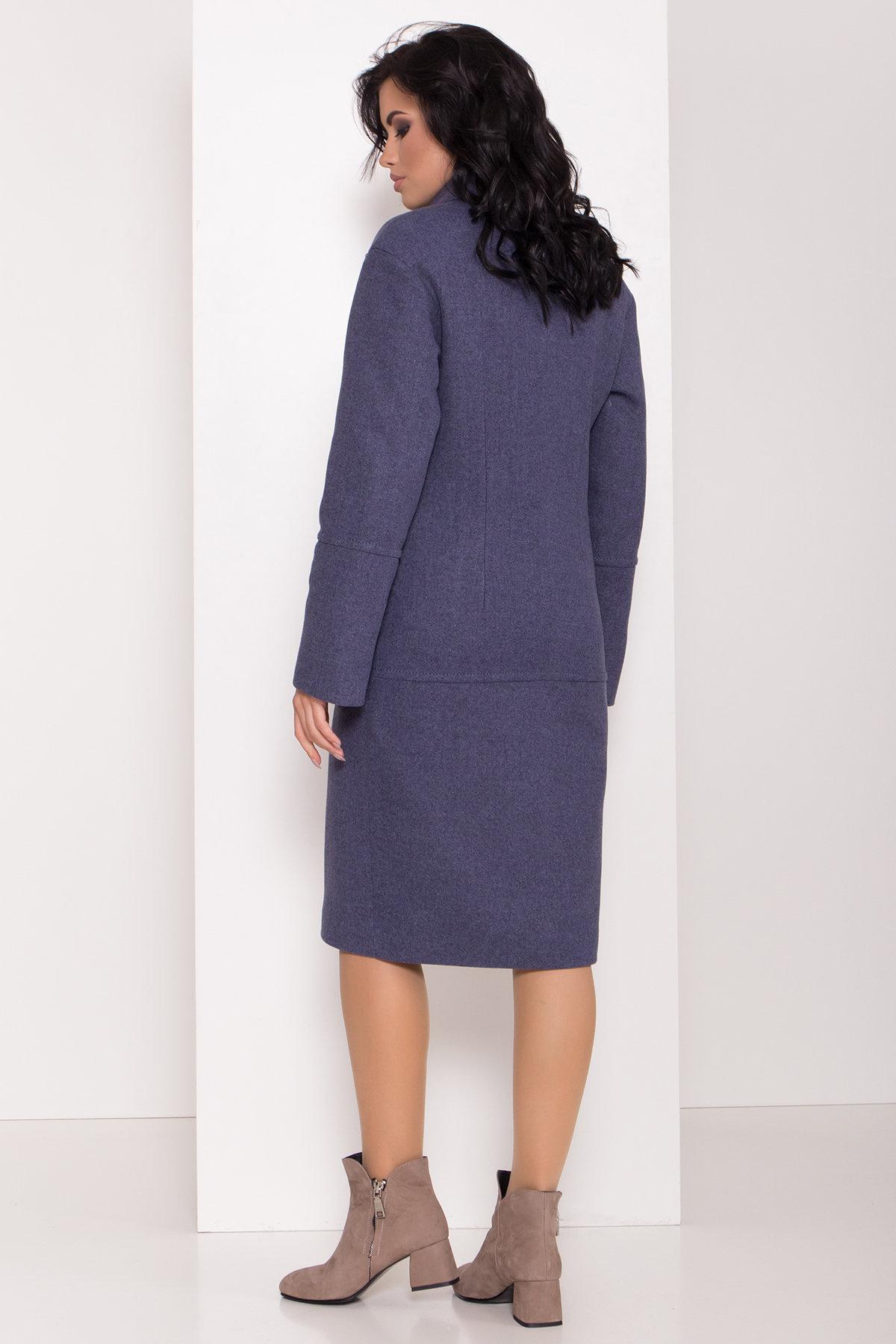 Элегантное зимнее пальто миди длины с накладными карманами Флорида 8138 АРТ. 44114 Цвет: Джинс тёмно-синий - фото 5, интернет магазин tm-modus.ru
