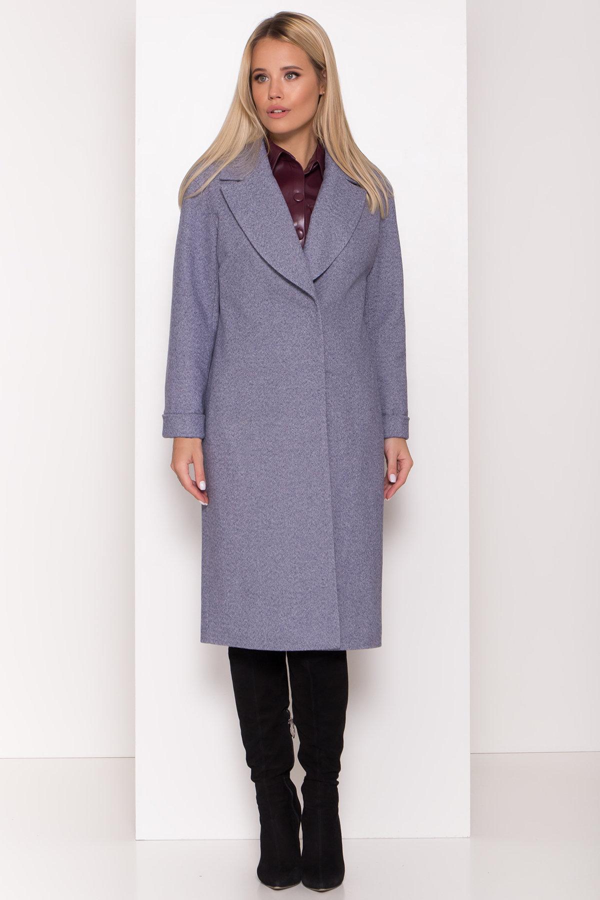 Демисезонное пальто Севен 8030 Цвет: Джинс 3