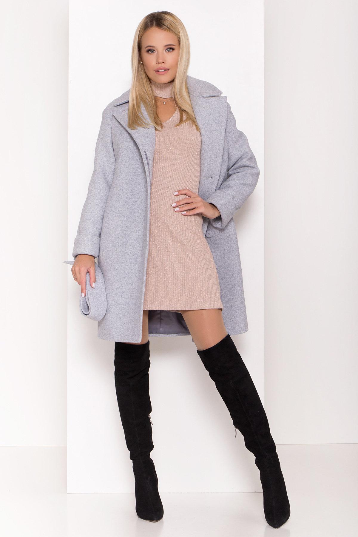 Стильное зимнее пальто пастельных тонов Лизи 8122 АРТ. 44087 Цвет: Серый Светлый 33 - фото 1, интернет магазин tm-modus.ru