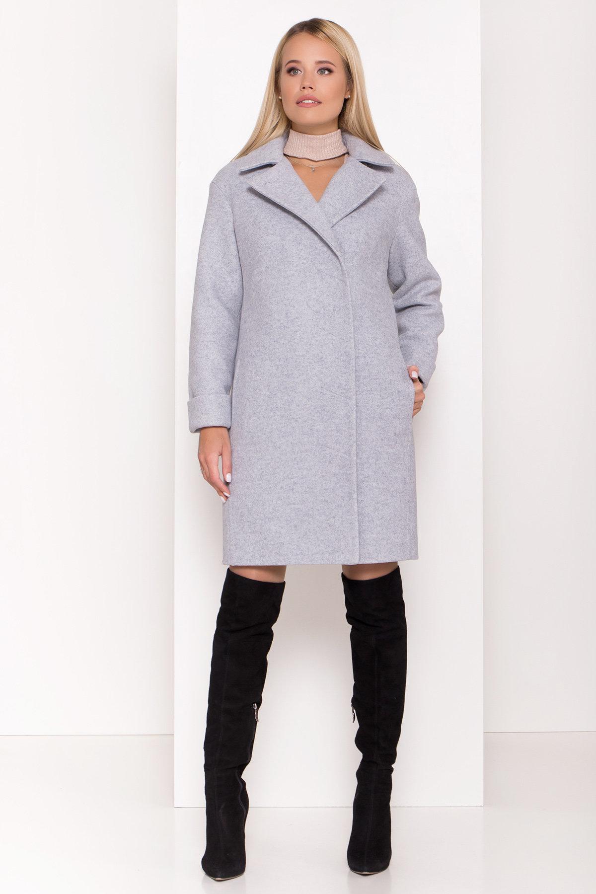 Стильное зимнее пальто пастельных тонов Лизи 8122 АРТ. 44087 Цвет: Серый Светлый 33 - фото 2, интернет магазин tm-modus.ru