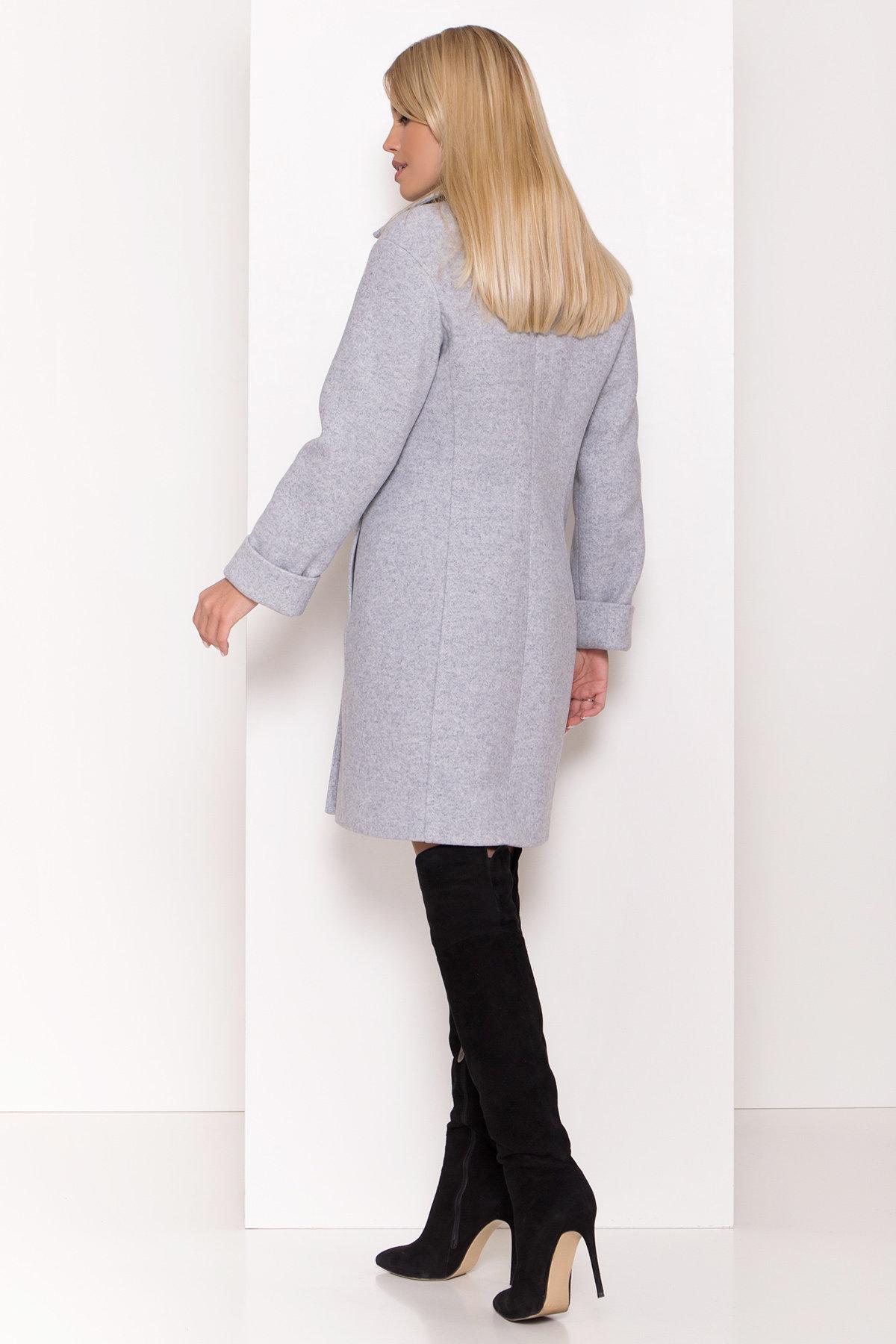 Стильное зимнее пальто пастельных тонов Лизи 8122 АРТ. 44087 Цвет: Серый Светлый 33 - фото 3, интернет магазин tm-modus.ru