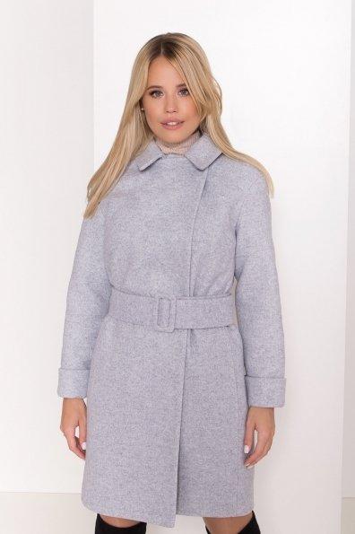Стильное зимнее пальто пастельных тонов Лизи 8122 Цвет: Серый Светлый 33