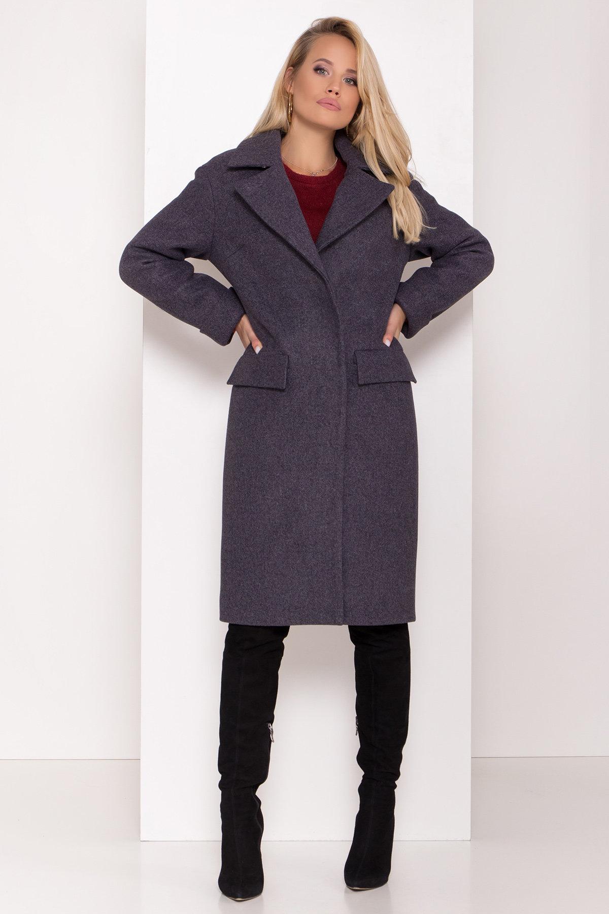 Зимнее пальто с отложным воротником Моле 8085 АРТ. 44036 Цвет: Т.синий 543 - фото 4, интернет магазин tm-modus.ru