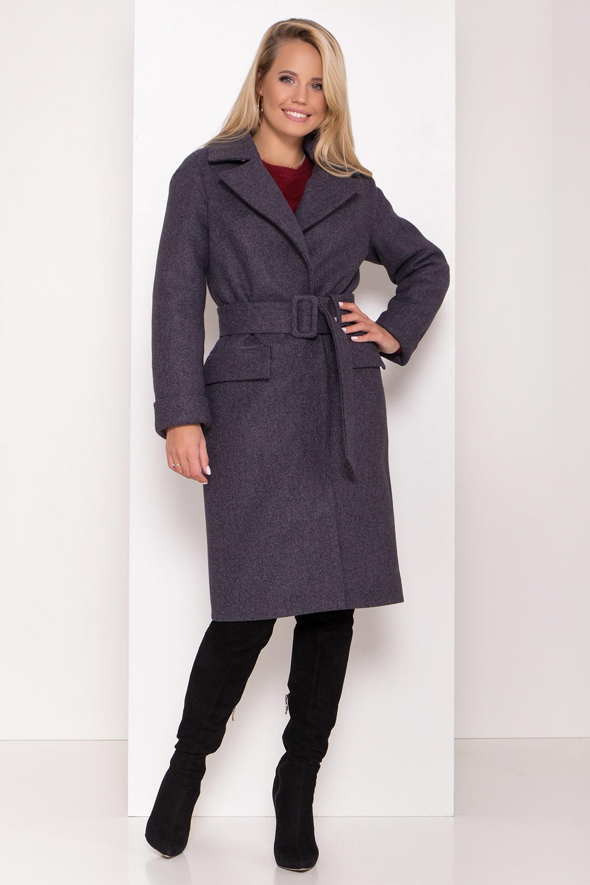 Зимнее пальто с отложным воротником Моле 8085 АРТ. 44036 Цвет: Т.синий 543 - фото 7, интернет магазин tm-modus.ru